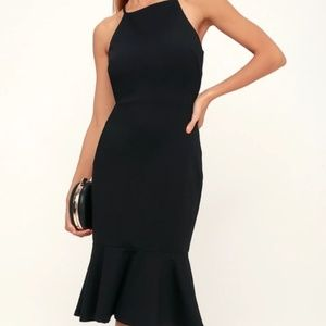 This Could Be Love Black Bodycon Midi Dress